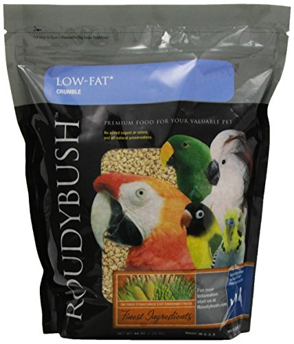 RoudyBush Low Fat Bird Food, Crumbles, 44-Ounce