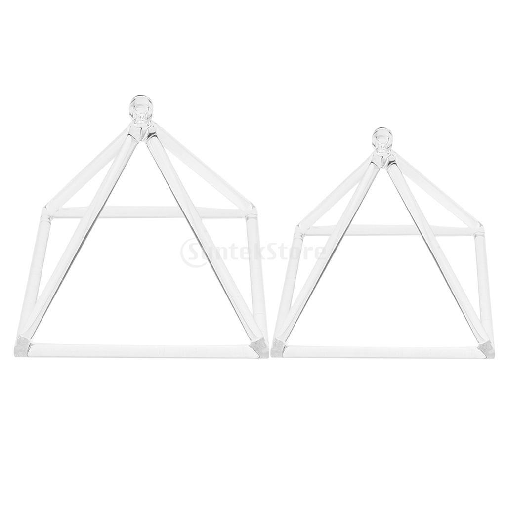 Fityle 2個 クォーツクリスタル 歌うピラミッド Dノート チャクラ リラクゼーション用 6インチ8インチ B0796R9NT5