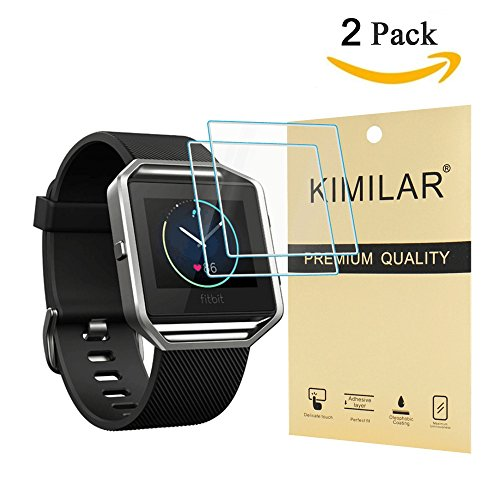 Kimilar 9H Tempered Glass Screen Protector for Fitbit Blaze, 2-Pack