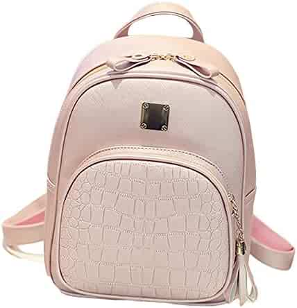 30f055d1fc18 Koolee Backpack Lady The New Korean version Crocodile pattern Fashion wild  College style Leisure School Bags