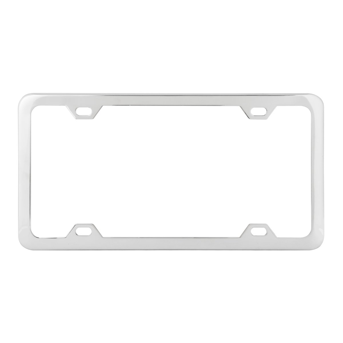 Grand General 60414 Matte Black Powder Coated License Plate Frame with 4 Holes