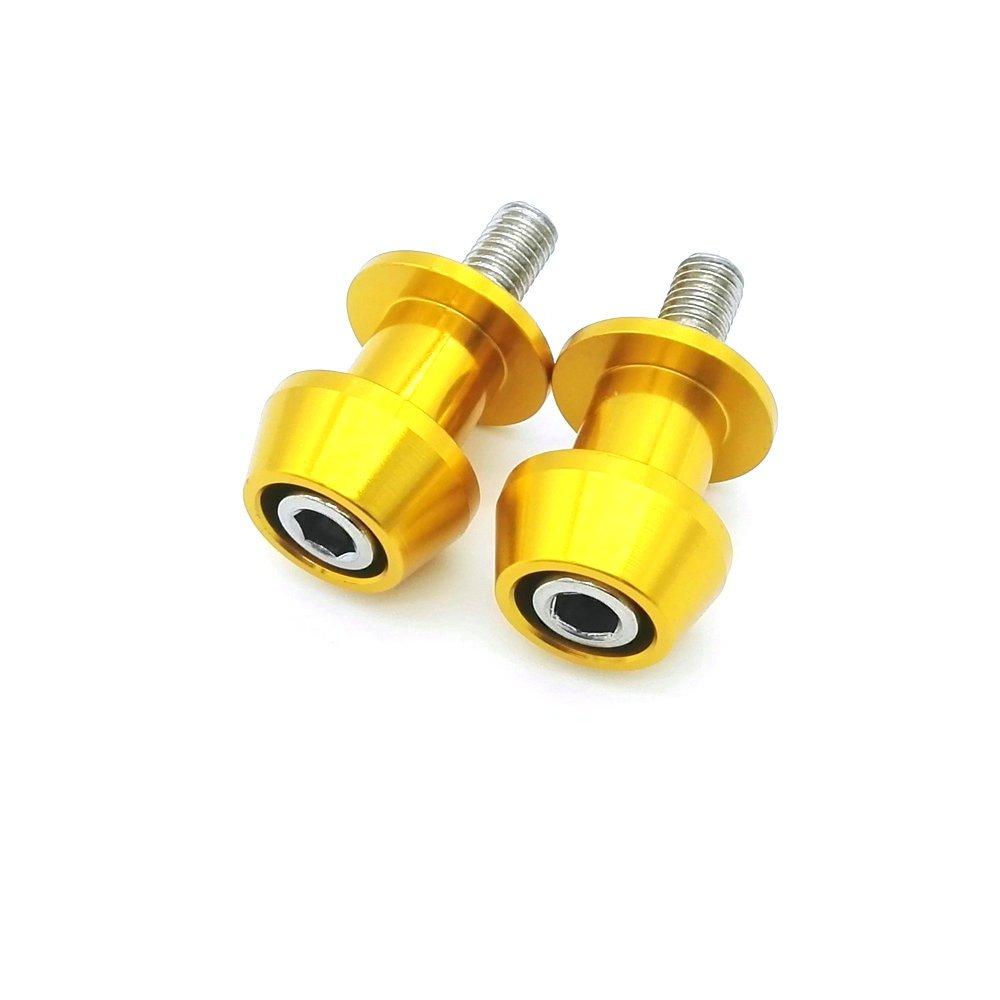 heinmo Universal Motocicleta basculante carretes deslizadores con brazo basculante soporte de bobinas amarillo Heinmo Plus