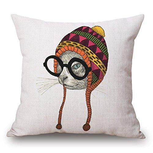 JESMEDIS-Owl-Pattern-Cotton-Linen-Square-Throw-Pillow-Case-18-X-18