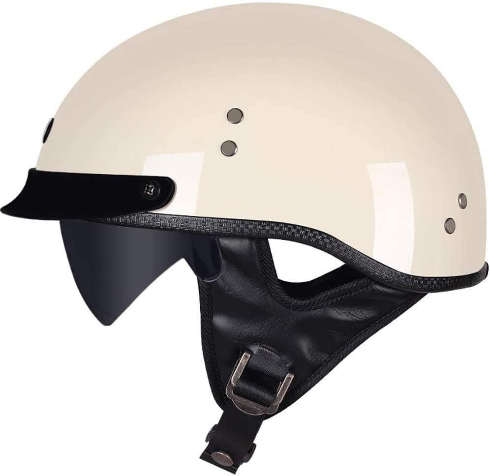 y Chopper Touring GaLon Casco de la Motocicleta de la Media Cara port/átil Retro Bowl Vespa Shell Protecci/ón Casco for Motocicletas ECE Aprobado Crucero