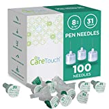 Care Touch Pen Needles 31 Gauge, 5/16 inches, 8mm