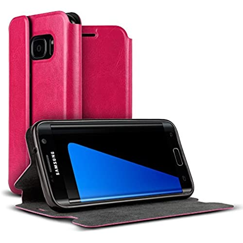 Galaxy S7 Case, VALKYRIE Galaxy S7 Premium Folio Wallet Case [Magnetic Flap, Stand, Card Slot] PINK for Samsung Galaxy S7 Sales
