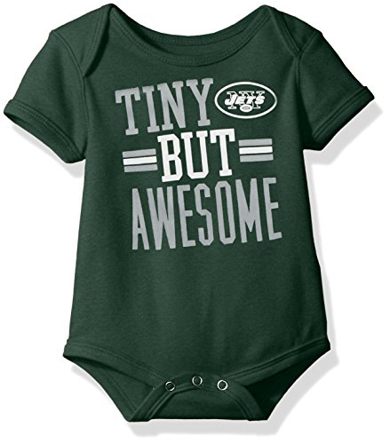 Outerstuff NFL Infant Tiny But Awesome Short Sleeve Onesie-Hunter-24 Months, New York Jets