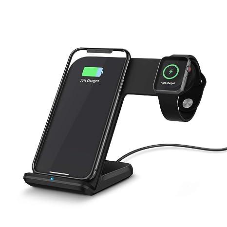 Sencillo Vida Cargador Inalámbrico Rápido, Qi Wireless Quick Charger Cargadores por inducción 10W para iPhone
