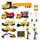 tractor trailer pc games - Construction Toys Sets, Engineering Vehicles 16 PCs, Bulldozers, Tank Truck, Asphalt Car And Excavator, Dump Truck Tractor Toy For Children Kids Boys And Girls, Beach Sand Toys, Cake Toppers