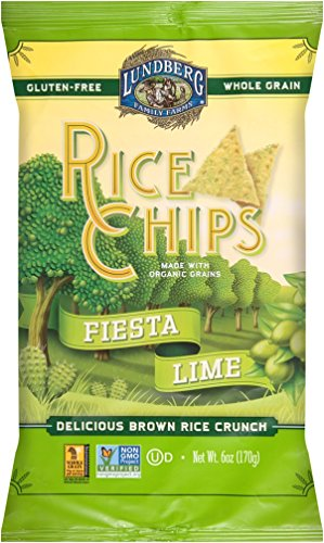 Lundberg Family Farms Rice Chips, Fiesta Lime, 6 Ounce (Pack of (Fiesta Rice)