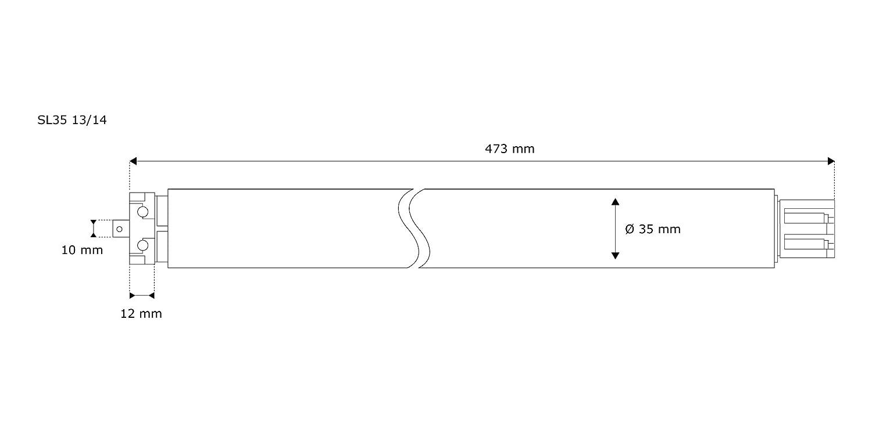 JAROLIFT 10050267 Moteur pour volet roulant /Ø60 // 25 kg force de traction Moteur tubulaire SL45-10//15