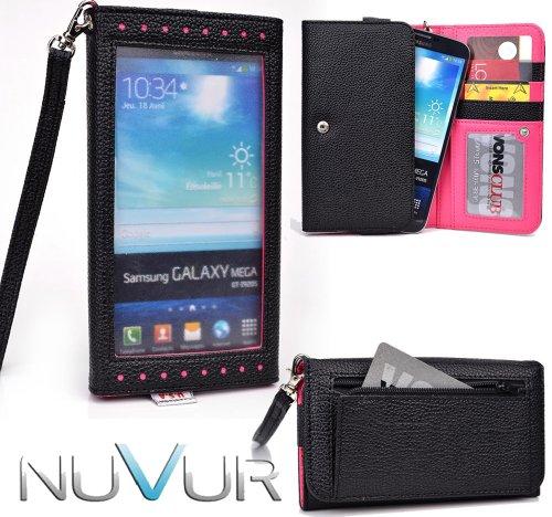 Black Hot pink [[EXPOSE]] Clutch Phone Case Cover May Fit Pantech Vega R3 IM-A850L + NuVur ™ Key Chain (ESXLEXM1)