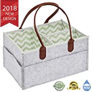 Diaper Caddy by Design ATB | Stylish High Capacity Baby Nursery Organizer for Changing Table | Portable Multi-Pocket Diaper Stacker with Sturdy Handles & Removable Insert | Ideal Baby Shower Gift