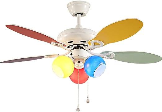 2en1 Luz De Techo Ventilador con ventiladores de techo de madera ...