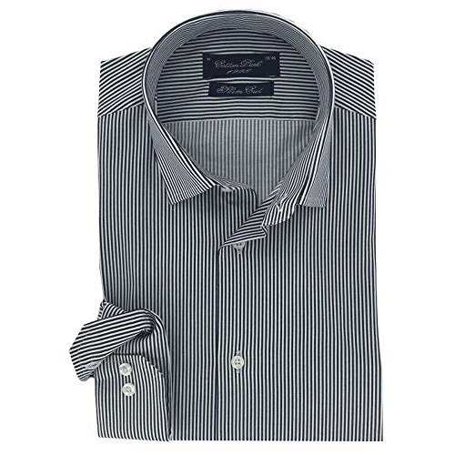 Cotton Park–Hemd 'Broome' Streifen blau–Herren