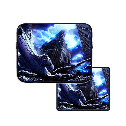 top Sleeve Case Frozen Disaster World Neoprene Briefcase 13 Inch 15 Inch for Ipad Notebook & Mouse Pad 11.8 x 9.8 inch ()