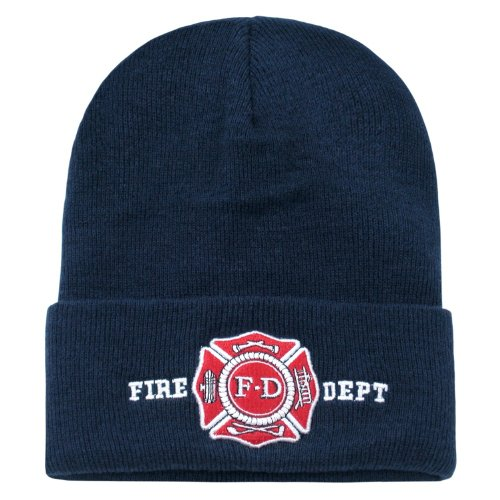 FIRE DEPT CUFF BEANIE SKULL CAP CAPS (Fire Embroidery Dept)
