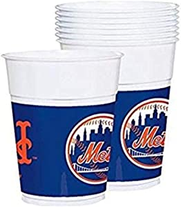 """""""New York Mets Major League Baseball Collection"""" Plastic Party Cups"""