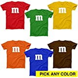 M Chocolate Candy Halloween Costume Outfit Funny Group Cool Party Mens Shirt Medium Royal