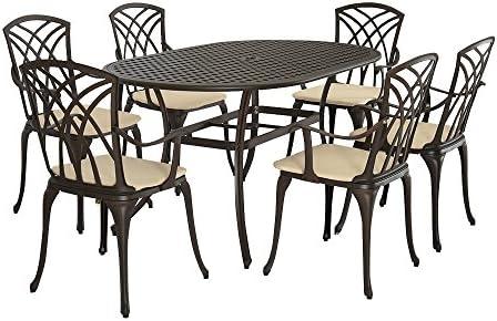 Tavoli In Ghisa Da Giardino.Mayuber In Ghisa Di Alluminio Tavolo E 6 Poltrone Set Mobili Da
