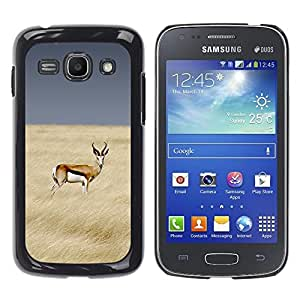 Planetar® ( Antelope Field Africa Prey Sky Nature ) Samsung Galaxy Ace 3 III / GT-S7270 / GT-S7275 / GT-S7272 Fundas Cover Cubre Hard Case Cover