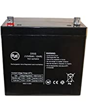 Interstate DCM0055 12V 55Ah Wheelchair Battery - This is an AJC Brand Replacement