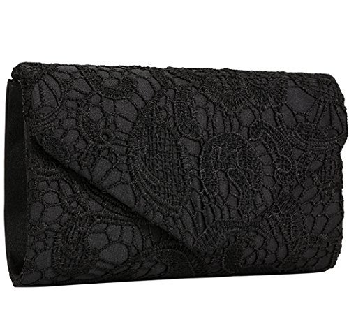 Jubileens Women's Elegant Floral Lace Envelope Clutch for sale  Delivered anywhere in Canada