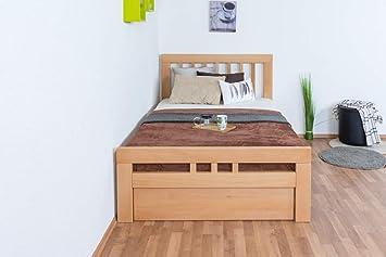 Einzelbett Gastebett Easy Premium Line K8 Inkl 1 Abdeckblende 120 X 200 Cm Buche Vollholz Massiv Natur Amazon De Baumarkt
