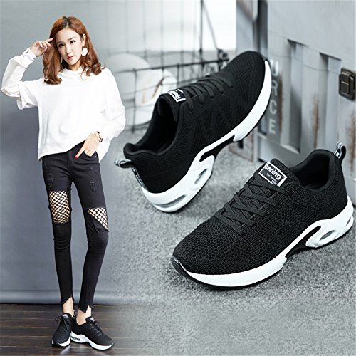 Running Course Sports Femme de Noir Sneakers EU 34 de Air Baskets Fitness 44 Baskets Sport Homme Gym MIMIYAYA Chaussure xYwOqBqv