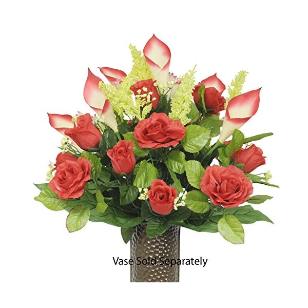 Red-Rose-and-Red-Calla-Lily-Silk-Flower-Bouquet-with-Stay-In-The-Vase-Design-Flower-HolderSM1218
