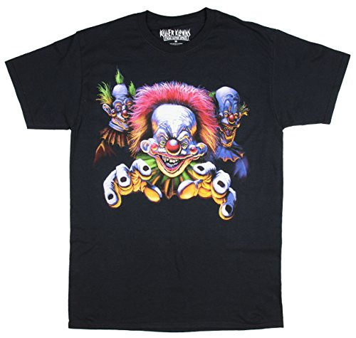 Killer Klowns from Outer Space Mens Give Me A Hug Trio T-Shirt (Medium) (Killers The T-shirt)