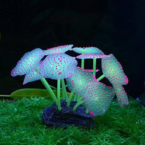 Saim Glowing Artificial Coral Ornament Aquarium Decor Fish Tank Decorations