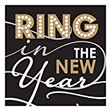 Ideal Home Range 20 Count 3-Ply Paper Cocktail Napkins, Rosanne Beck Ring in The New Year