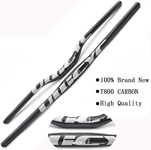 Pn&cc Manillar Completo de Fibra de Carbono 3K Bicicleta MTB ...