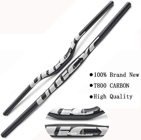 Pn&cc Manillar Completo de Fibra de Carbono 3K Bicicleta MTB Manillar Flat/Rise Silver Bike Parts,Rise,740mm: Amazon.es: Hogar