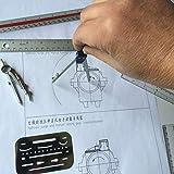 Drawing Tools & Kits 20Pc Geometry Set Aluminum