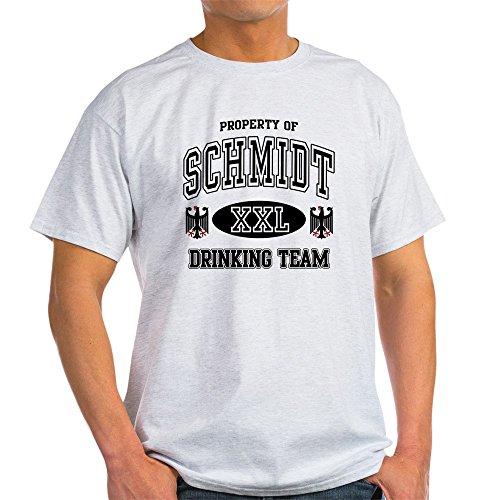 CafePress - Schmidt German Drinking Team Light T-Shirt - 100% Cotton T-Shirt (T-shirt Light Team Drinking)
