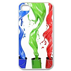 C-Y-F-CASE DIY Design Colourful World Pattern Phone Case For Iphone 4/4s