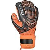 Reusch Soccer Re:Load Prime S1 Goalkeeper Glove, Black/Orange, Size 8