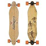 Loaded Boards Vanguard Bamboo Longboard Skateboard Complete (80a In Heat, Flex 1)