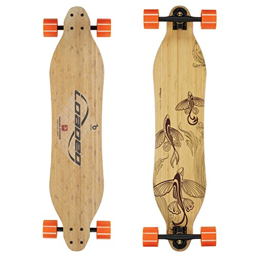 Loaded Boards Vanguard Bamboo Longboard Skateboard Complete (80a in Heat, Flex 3)