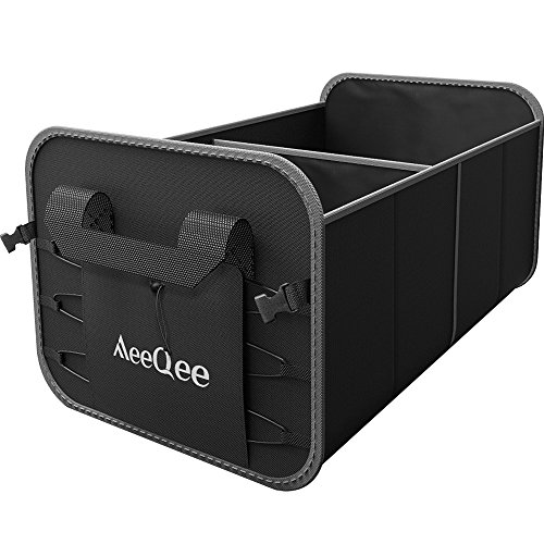 Premium Car Trunk Organizer By Meeqee  Collapsible Cargo Container Non Slip Bottom Strip Heavy Duty Auto Storage For Car  Suv  Truck  Minivan Groceries And Home