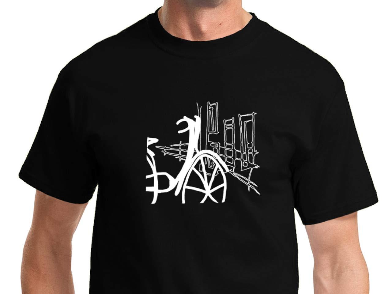 Una Bicicleta en la Ciudad Camiseta Hombre de Manga Corta: Amazon ...