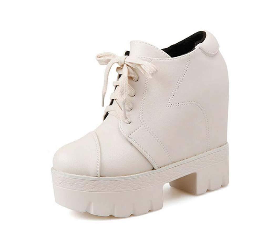 13cm Wedge Heel Martin Stiefel Ankle Stiefelie damen Fashion Round Toe Cross Straps Platform Schuhe Casual schuhe Eu Größe 34-39