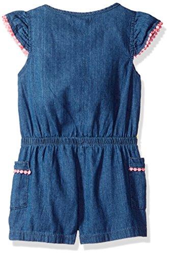 Limited Too Toddler Girls' Romper, Flower Cross Hatch Denim Medium Blue Wash, 2T by Limited Too (Image #2)