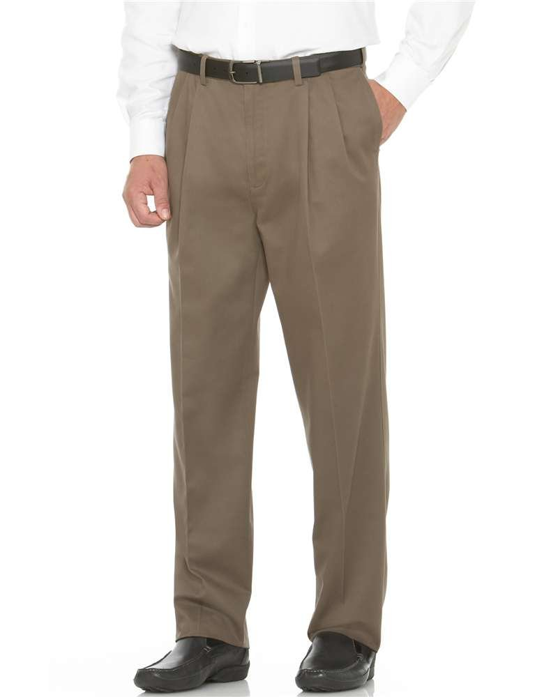Savane Men's Flat Front Performance Chino Pant, Shale, 44Wx30L by Savane (Image #1)