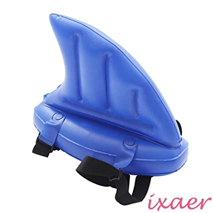 1X Portable Kid Swim Shark Fin Swimming Pool Float Inflatable Buoyancy Aid Gift