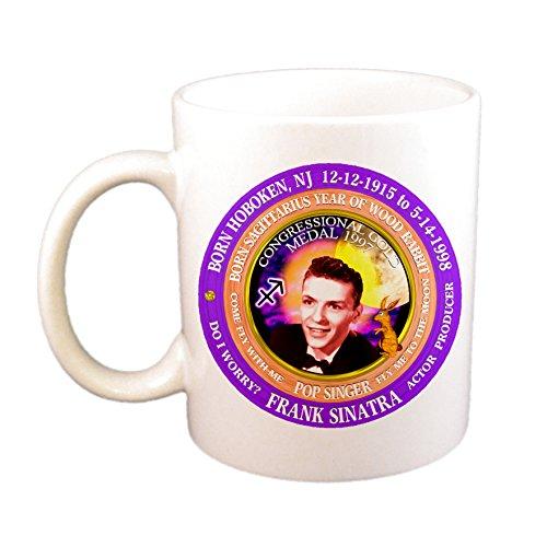 Frank Sinatra Singer Cup / Mug, Astrology Sagittarius Zodiac Wood Rabbit