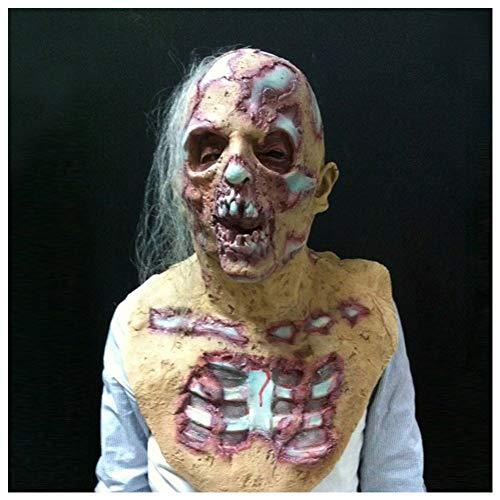 (Tulas Halloween Prop Walking Dead Latex Mask Full Head Horror Zombie Masks Costume Party)