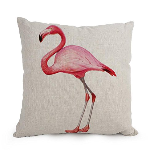 18 X 18 Inches / 45 By 45 Cm Flamingo Throw Cushion Covers Two Sides Is Fit For Family Teens Car Seat Father Wedding Car Seat